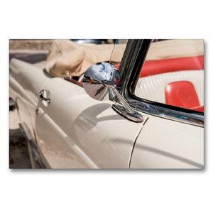 Premium Textil-Leinwand 90 cm x 60 cm quer Ford Thunderbird Conv