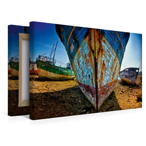 Premium Textil-Leinwand 45 cm x 30 cm quer Schiffsfriedhof in Ca