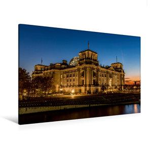 Premium Textil-Leinwand 120 cm x 80 cm quer Reichstag