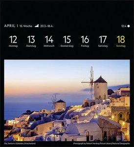 Weltreisen Postkartenkalender National Geographic Kalender 2021
