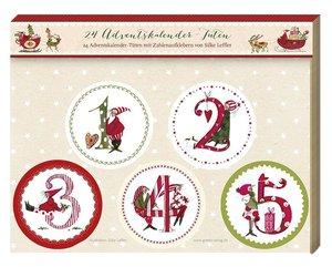 Tüten Set Adventskalender Zahlen