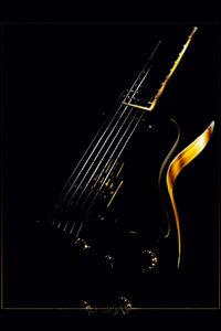 Premium Textil-Leinwand 30 cm x 45 cm hoch Gitarre Traum