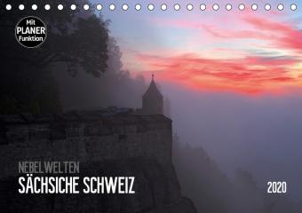 Nebelwelten Sächsische Schweiz (Tischkalender 2020 DIN A5 quer) - zum Schließen ins Bild klicken