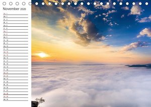 Nebelwelten Sächsische Schweiz (Tischkalender 2020 DIN A5 quer)