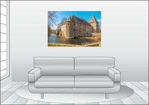 Premium Textil-Leinwand 120 cm x 80 cm quer Haus Kemnade, am Kem
