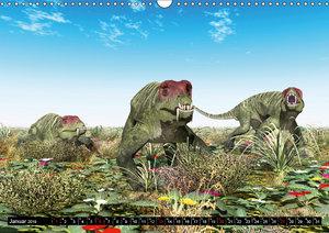 Dinosaurier. Urzeitliche Giganten (Wandkalender 2019 DIN A3 quer