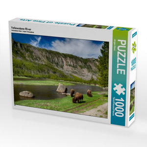 Yellowstone River 1000 Teile Puzzle quer