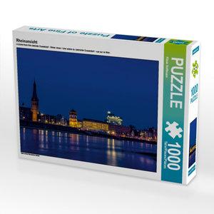 Rheinansicht 1000 Teile Puzzle quer