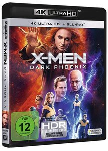 X-Men: Dark Phoenix 4K, 1 UHD-Blu-ray + 1 Blu-ray