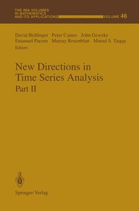 New Directions in Time Series Analysis