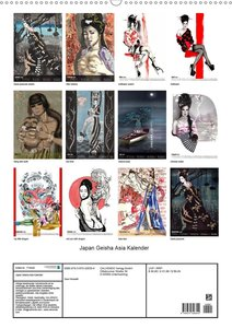 Geisha Asia Japan Pin-up Kalender