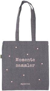myNOTES Momentesammler - geräumige Stofftasche aus recycelter Ba