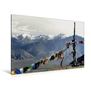 Premium Textil-Leinwand 120 cm x 80 cm quer Gebetsfahnen vor dem