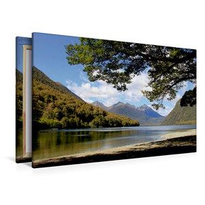 Premium Textil-Leinwand 120 cm x 80 cm quer Mirror Lakes