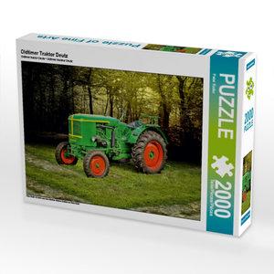 Oldtimer Traktor Deutz 2000 Teile Puzzle quer