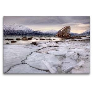 Premium Textil-Leinwand 120 cm x 80 cm quer Lost in Norway