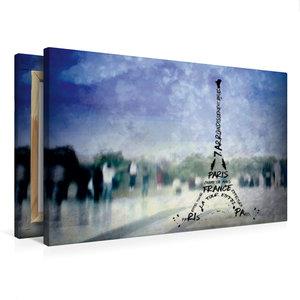 Premium Textil-Leinwand 75 cm x 50 cm quer PARIS Trocadero und E