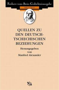 Quellen zu den deutsch-tschechischen Beziehungen 1848 bis heute