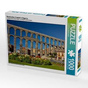 Roemisches Viadukt in Segovia 1000 Teile Puzzle quer