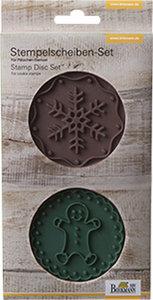 Stempelscheiben-Set Gingerman & Snowflake, 2-teilig