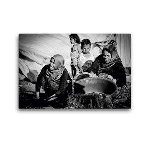 Premium Textil-Leinwand 45 cm x 30 cm quer Syrische Frauen