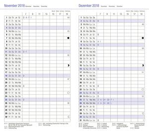 Leporello, dunkelrot - Kalender 2019