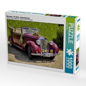 CALVENDO Puzzle Mercedes 170 SCB - Hochzeitsfahrt 1000 Teile Leg