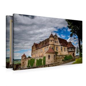 Premium Textil-Leinwand 90 cm x 60 cm quer Burg Stettenfels bei