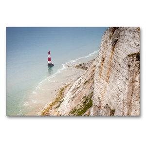 Premium Textil-Leinwand 90 cm x 60 cm quer Beachy Head Leuchttur