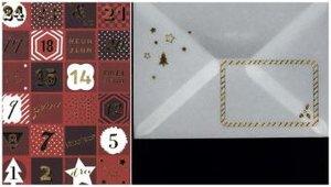 Mini-Adventskalender-Sortiment Weihnachts-Countdown