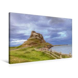 Premium Textil-Leinwand 75 cm x 50 cm quer Lindisfarne Castle -