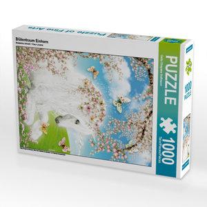 Blütentraum Einhorn 1000 Teile Puzzle hoch