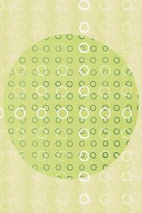 Premium Textil-Leinwand 50 cm x 75 cm hoch Punkte, Grün und Weiß