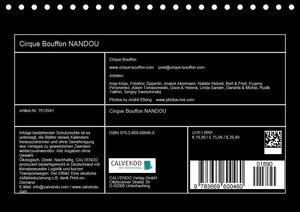 Cirque Bouffon NANDOU (Tischkalender 2019 DIN A5 quer)