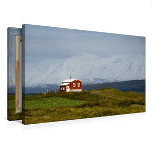 Premium Textil-Leinwand 75 cm x 50 cm quer Dalvíkurkirkjugarður