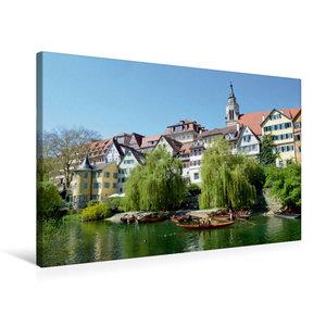 Premium Textil-Leinwand 75 cm x 50 cm quer Tübingen