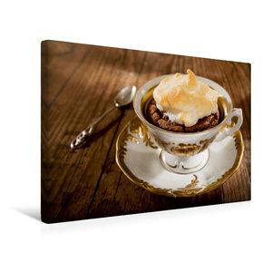 Premium Textil-Leinwand 45 cm x 30 cm quer Tassenmuffin mit Bais