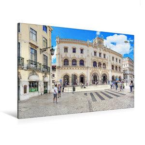Premium Textil-Leinwand 120 cm x 80 cm quer Bahnhof Rossio direk