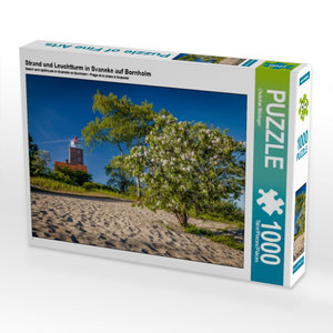Strand und Leuchtturm in Svaneke auf Bornholm 1000 Teile Puzzle