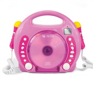 Karaoke CD Player MP3 2 Mikros girl-pink