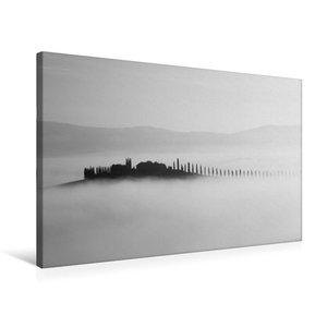 Premium Textil-Leinwand 75 cm x 50 cm quer Insel im Nebel
