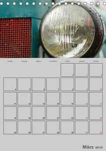 Oldtimer Trecker im Detail (Tischkalender 2019 DIN A5 hoch)