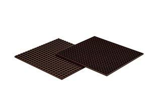4x Bauplatte braun 20x20 Noppen, 16x16xcm - Basis für Spielzeugb