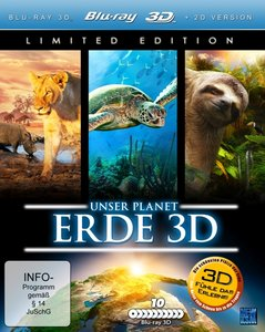 Unser Planet Erde 3D, 10 Blu-ray