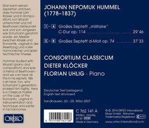"""Große Septett e""""militaire"""" op.114 und op.74"""
