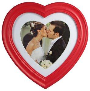 Bilderrahmen Herz/ Hochzeit rot