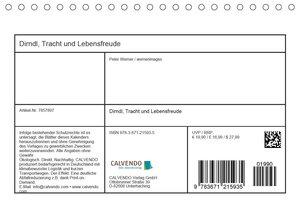 Dirndl, Tracht und Lebensfreude (Tischkalender 2020 DIN A5 quer)