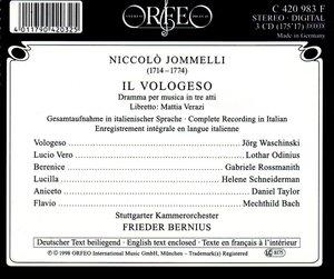 Il Vologeso:Dramma per musica in tre atti