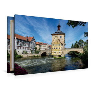 Premium Textil-Leinwand 120 cm x 80 cm quer Bamberg