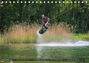 Wakeboarding - make water burn